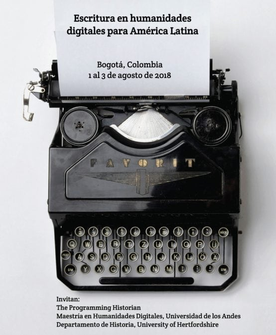 Convocatoria para taller de Escritura en Humanidades Digitales para América Latina