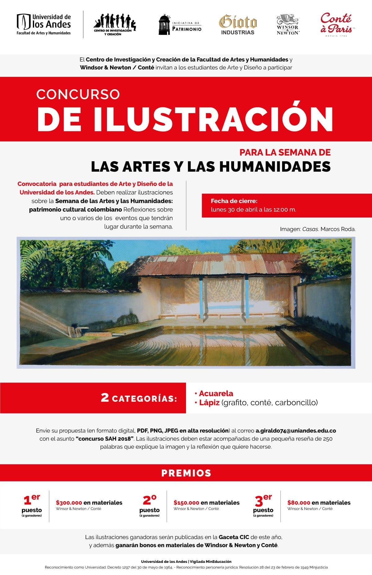 Concurso de ilustración: para la Semana de las Artes