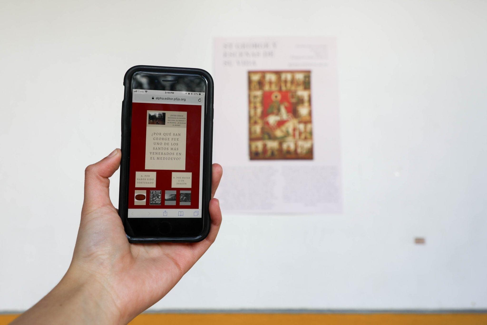 Propuesta interactiva de estudiante de Humanidades Digitales