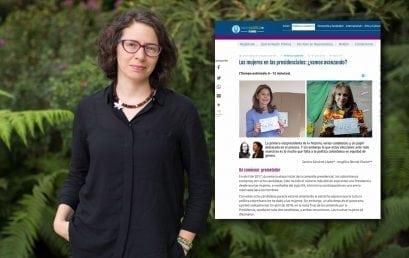 Artículo de Sandra Sánchez López sobre el papel de una mujer como vicepresidenta