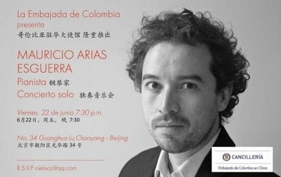 Concierto de Mauricio Arias en la Embajada de Colombia en China