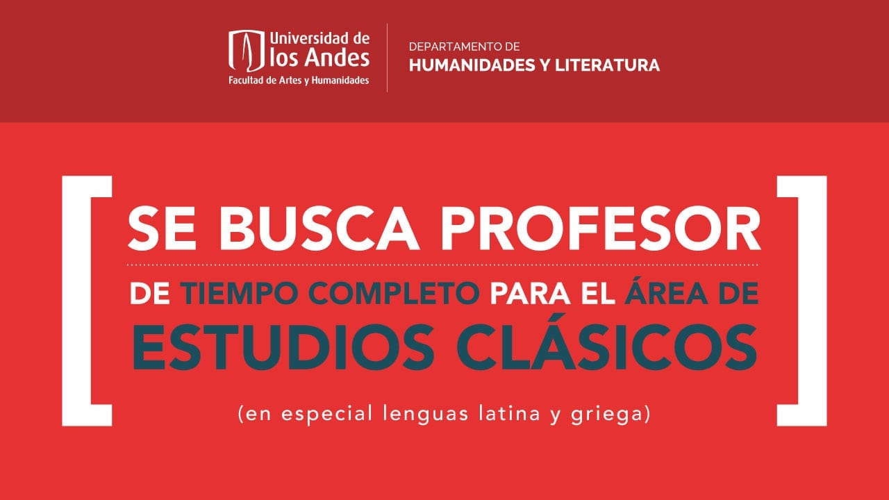 Convocatoria docente de tiempo completo para el Área de Estudios Clásicos