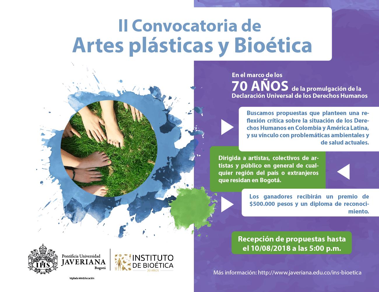 II Convocatoria de Artes plásticas y Bioética