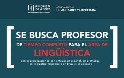 Convocatoria docente de tiempo completo para el Área de Lingüística