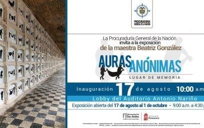 Inauguración de la exposición Auras anónimas: lugar de memoria de Beatriz González