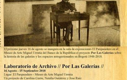 Charla de apertura del proyecto Por las galerías
