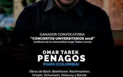 Recital de piano: Omar Tarek Penagos (Colombia)