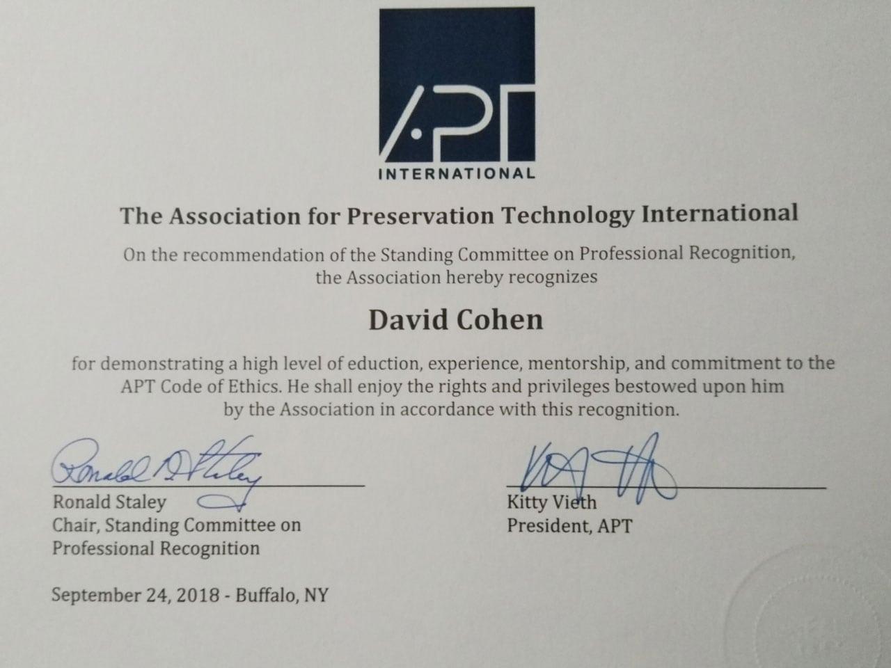 Profesor de la Maestría en Patrimonio gana premio al reconocimiento profesional