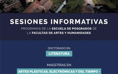 Sesiones informativas de posgrados
