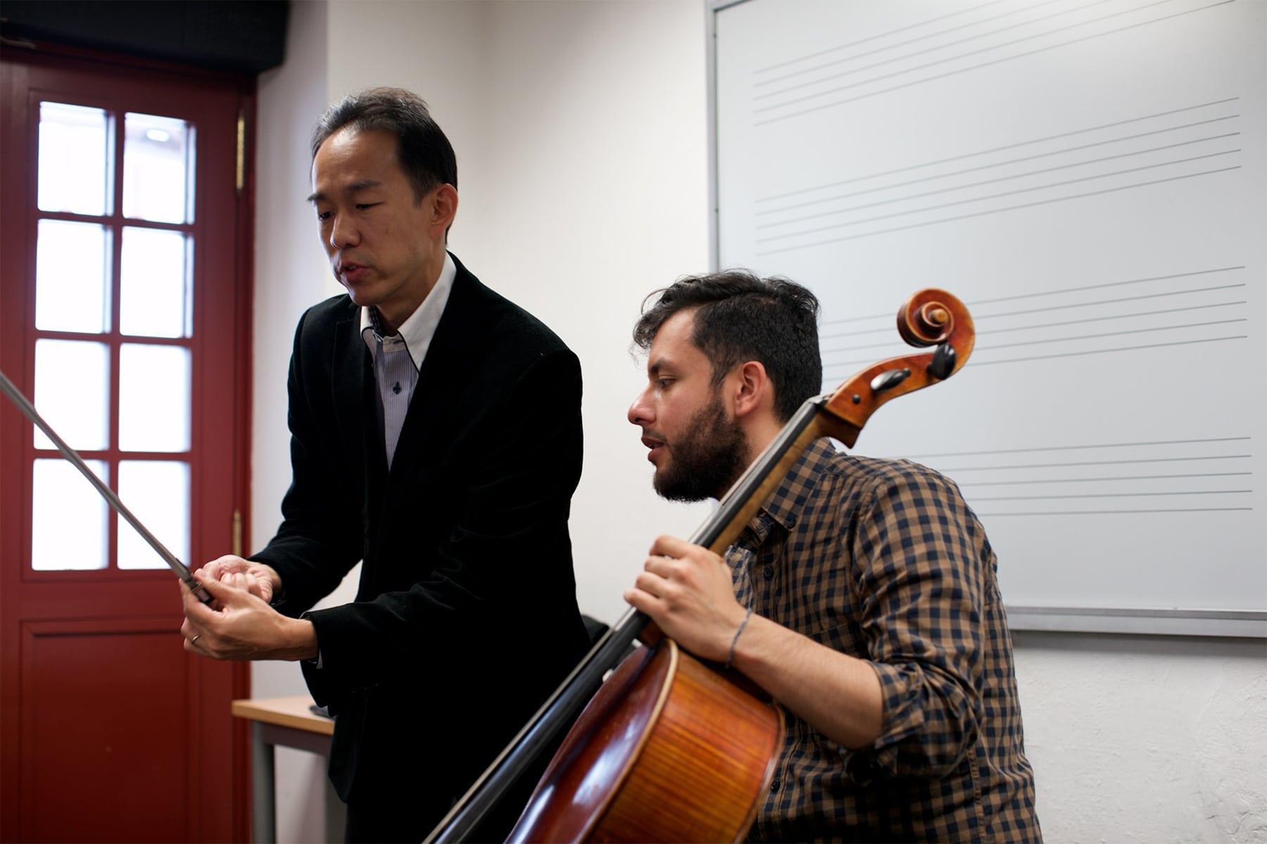 Galería: El Dúo Yumeno y el compositor Marty Regan en Uniandes