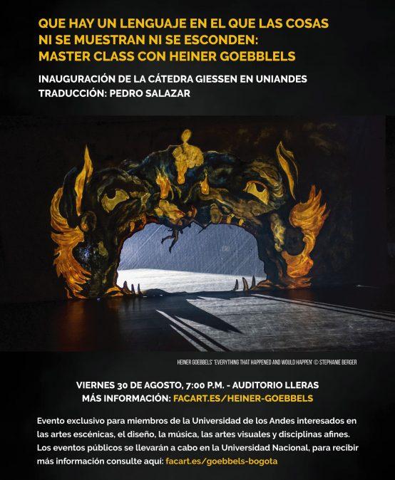 Master Class con Heiner Goebbels