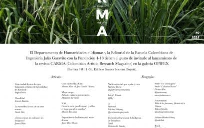 Lanzamiento Revista Colombian Artistic Research MAgazine – CARMA