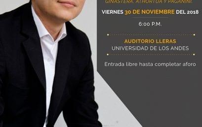 Concierto de grado: Sergio Umbarila, violín (Colombia)