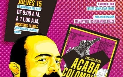 """Santiago Rivas presenta su libro """"Acaba Colombia"""""""