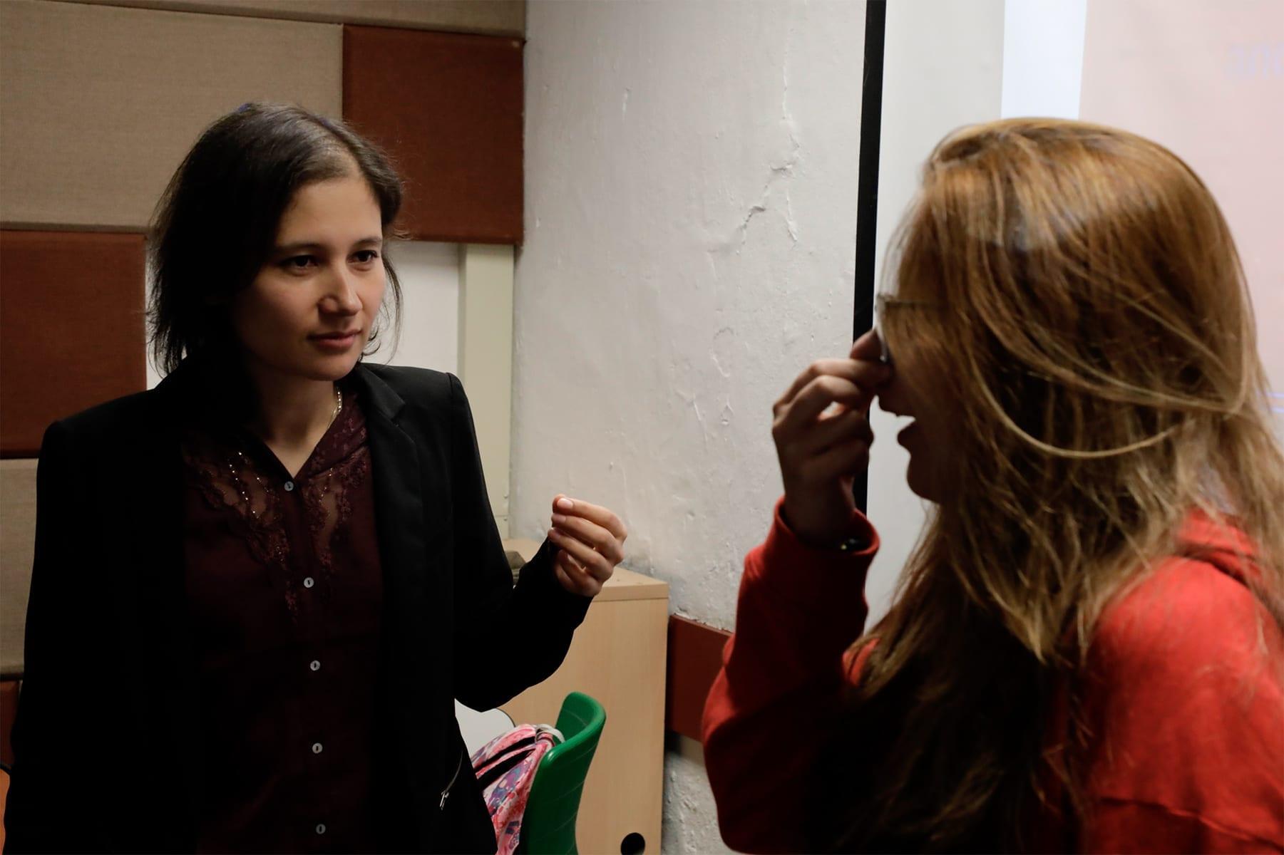 Galería: Taller sobre fisiología de la voz y configuraciones del tracto vocal con Kelly Montilla