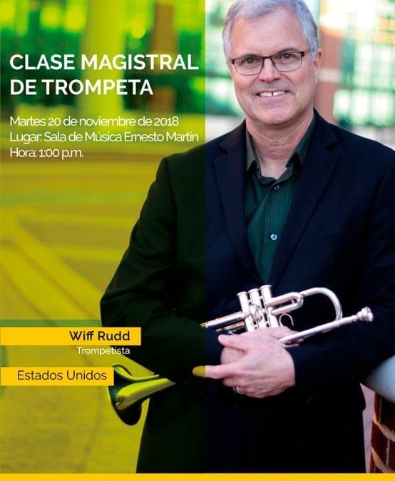 Clase magistral de trompeta con Wiff Rudd (Estados Unidos)