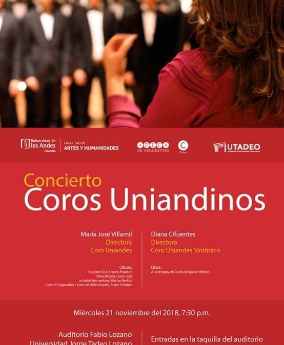 Concierto: Coros Uniandinos