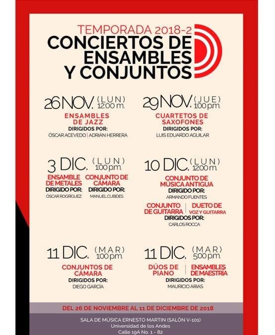 Temporada de Conciertos de los Ensambles y Conjuntos musicales uniandinos – 2018-2