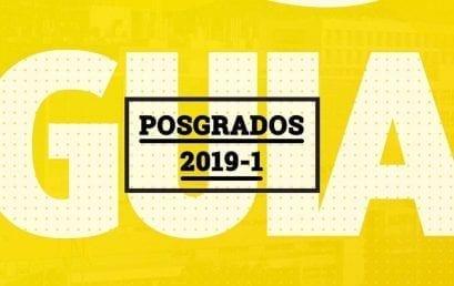 Guía de ingreso para el uniandino de posgrado 2019-1
