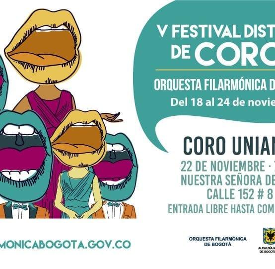 Coro Uniandes en el V Festival Distrital de Coros