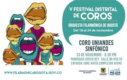 Coro Uniandes Sinfónico en el V Festival Distrital de Coros