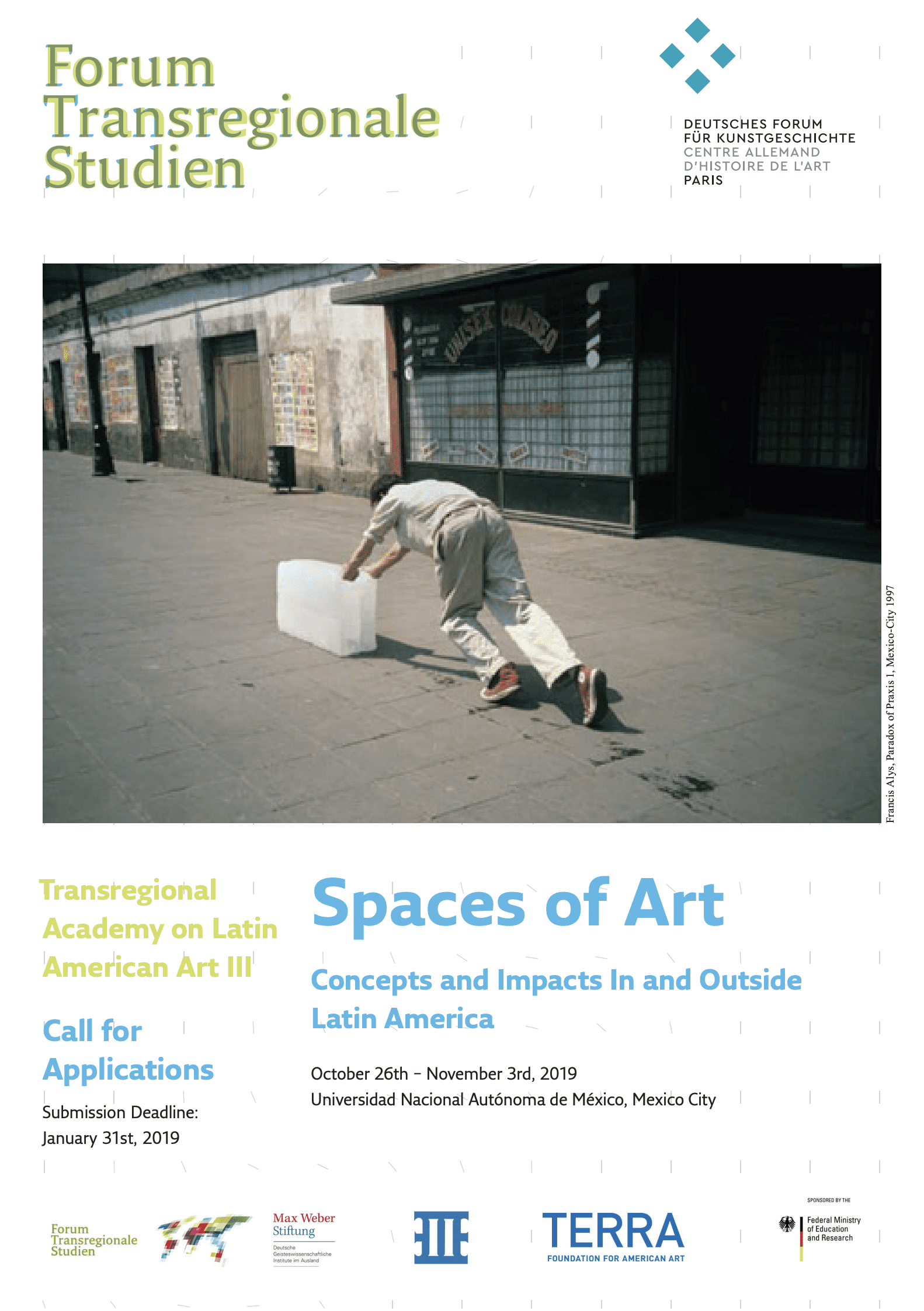 "Convocatoria: Transregional Academy ""Spaces of Art. Concepts and Impacts In and Outside Latin America"""