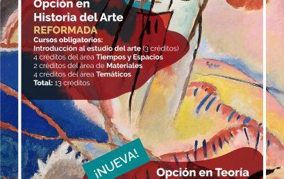 Las opciones del programa de Historia del Arte han cambiado