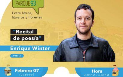 Recital de poesía con Enrique Winter en el Festival del libro Parque 93