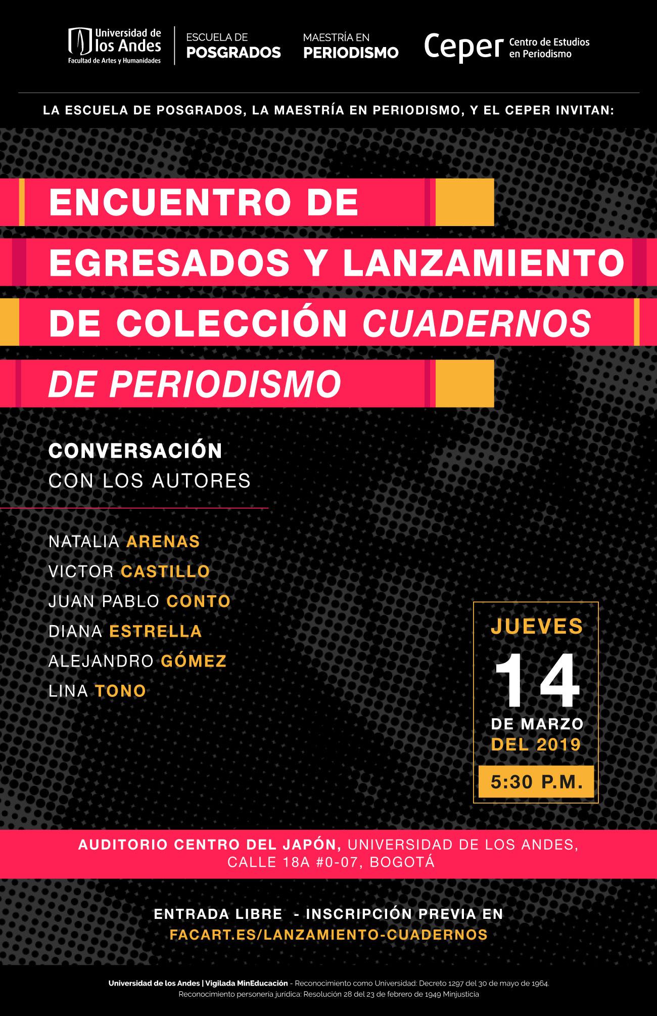 Lanzamiento de la Colección Cuadernos de Periodismo - Universidad de los Andes