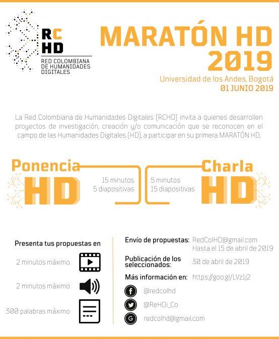 Convocatoria: Maratón HD 2019 – Red Colombiana de Humanidades Digitales