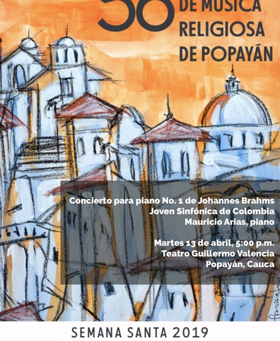 Concierto para piano No. 1 de J. Brahms / Joven Sinfónica de Colombia y Mauricio Arias, piano