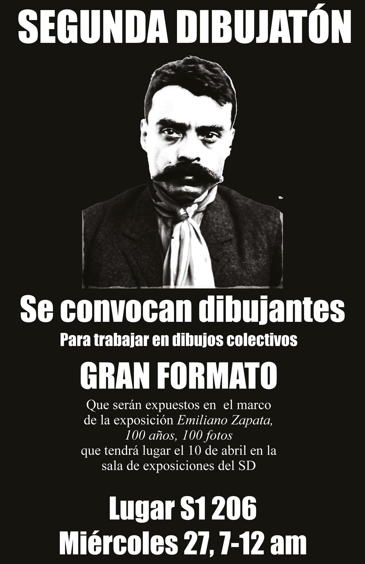 Dibujatón Emiliano Zapata, 100 años, 100 fotos