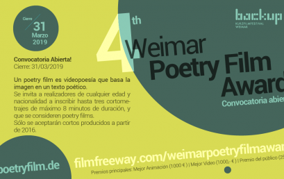 Convocatoria del 4to Weimar Poetry Film Award