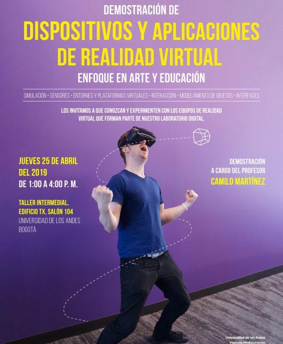 Demostración de dispositivos y aplicaciones de realidad virtual