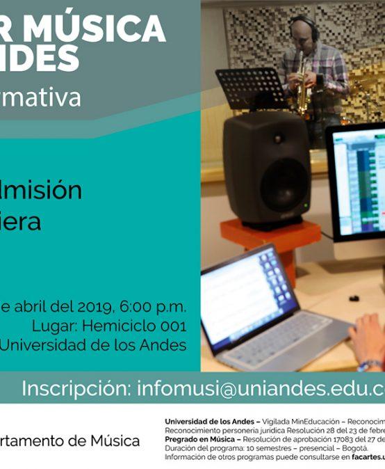 Charla informativa: Estudiar Música en Uniandes