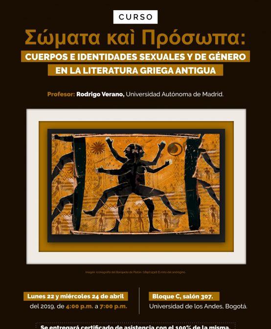 Curso –  Σώματα καì Πρόσωπα: cuerpos e identidades sexuales y de género en la literatura griega antigua