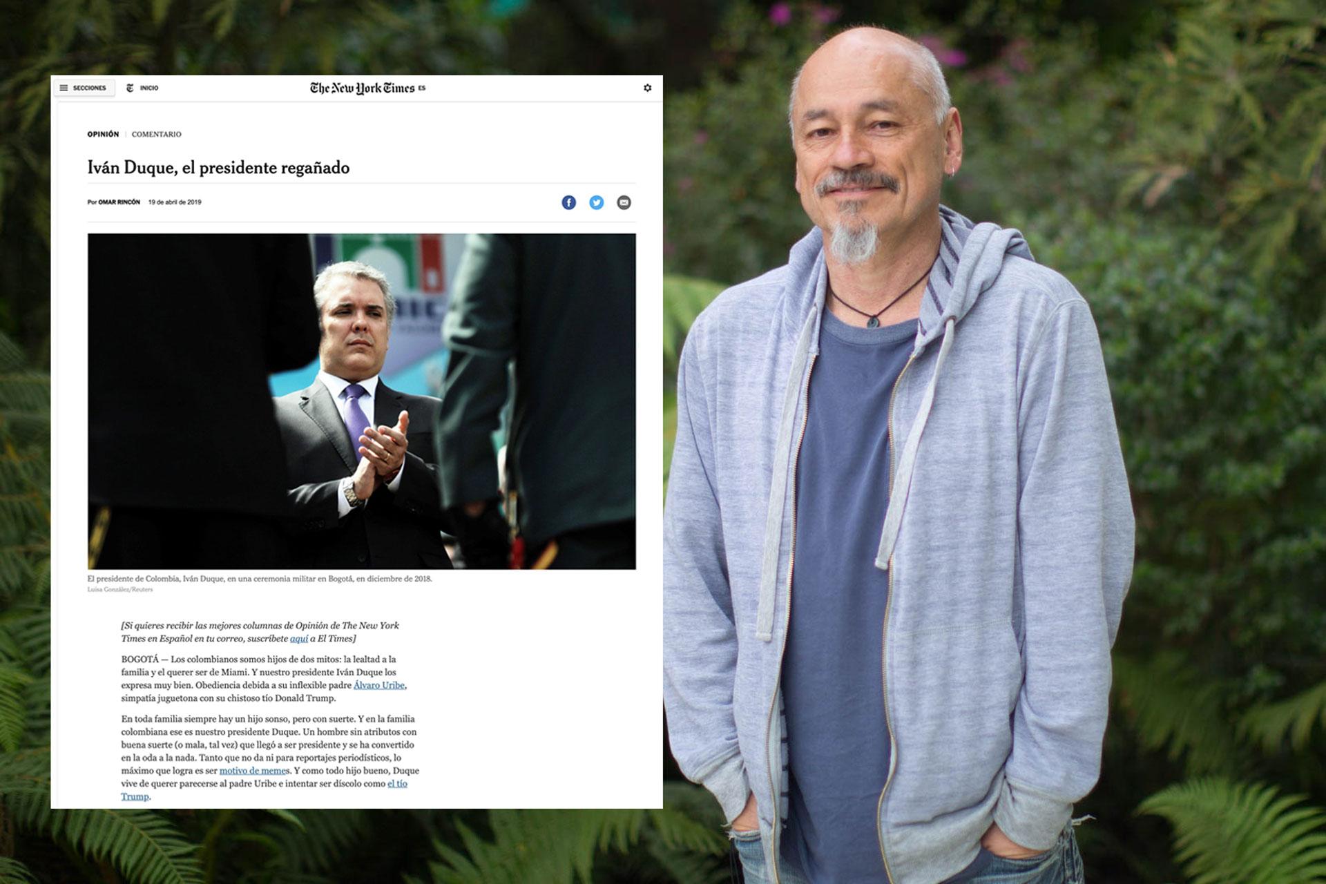 New York Times en español publica columna del profesor Ómar Rincón