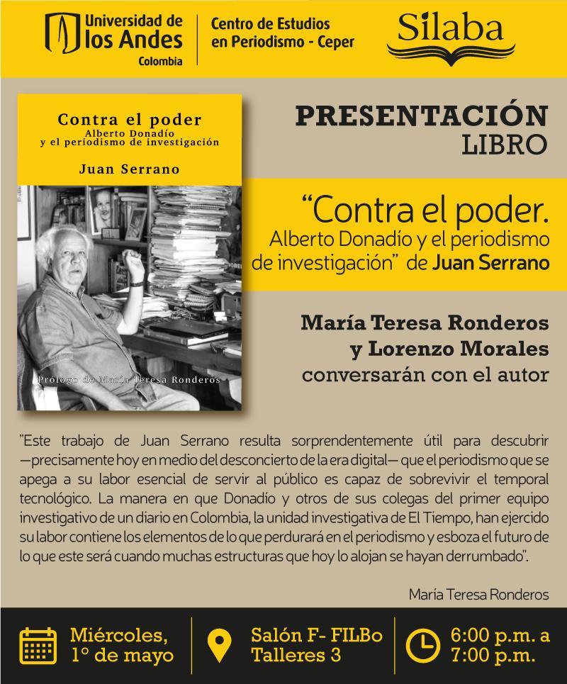 Presentación libro: Contra el poder: Alberto Donadio y el periodismo de investigación
