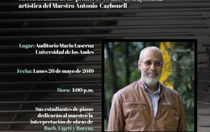 Concierto de piano en homenaje al maestro Antonio Carbonell