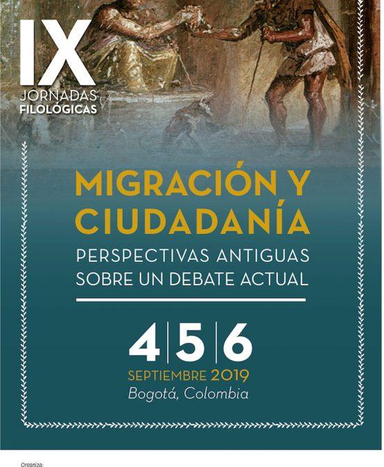 IX Jornadas Filológicas – Migración y ciudadanía: perspectivas antiguas sobre un debate actual