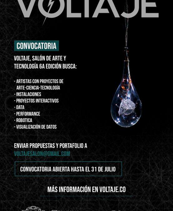 Convocatoria Voltaje, salón de arte y tecnología