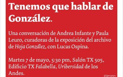 Tenemos que hablar de González
