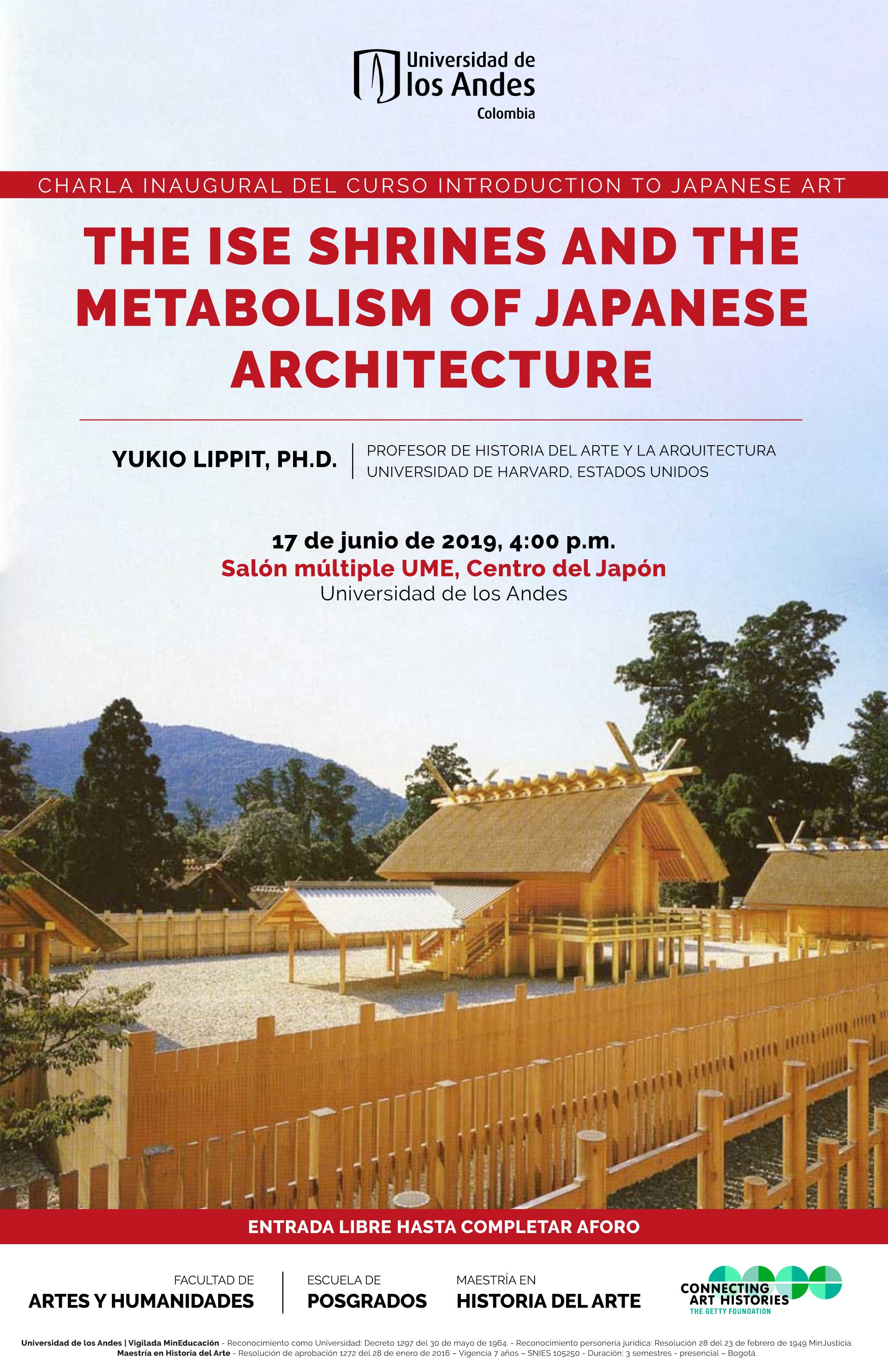Charla: The Ise Shrines and the metabolism of japanese architecture