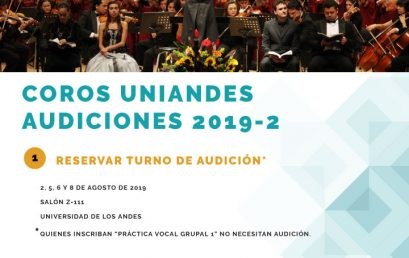 Audiciones corales 2019-2
