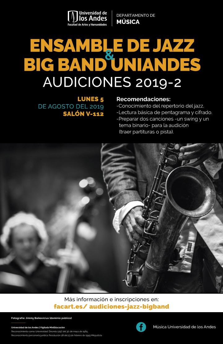 Audiciones: Ensamble de Jazz y Big Band Uniandes