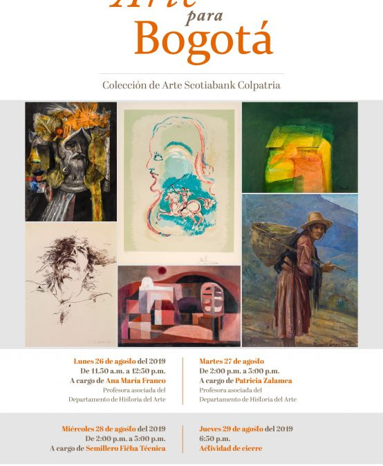 Visita guiada a la exposición Arte para Bogotá por Ana María Franco