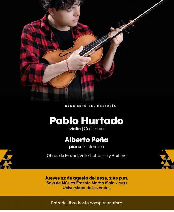 Concierto del Mediodía: Pablo Hurtado (violín) y Alberto Peña (piano)