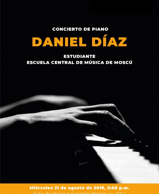 Concierto de piano: Daniel Díaz, piano (Colombia)