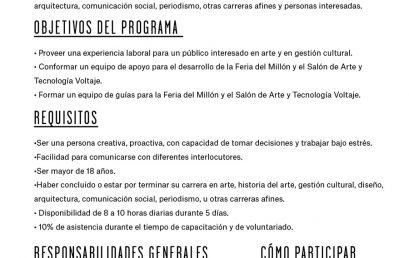 Convocatoria: voluntarios equipo Feria del Millón 2019