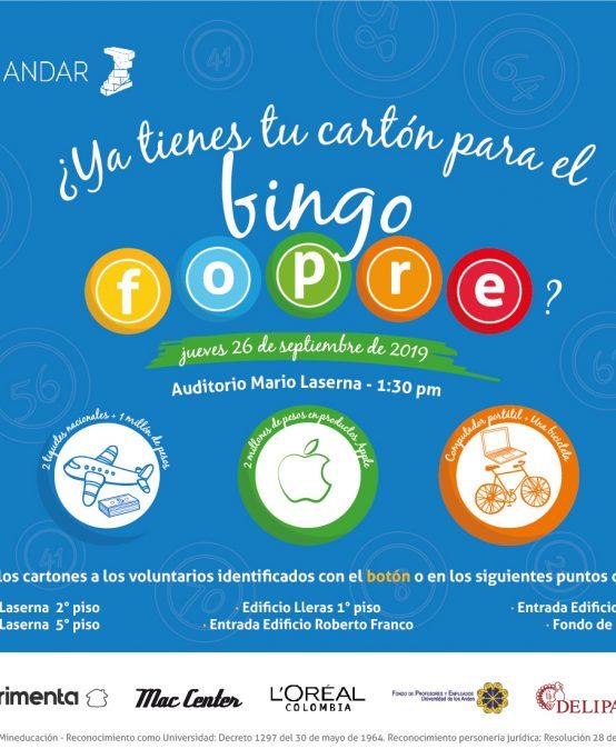 Día del estudiante: Bingo Fopre